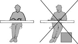 De eerste stappen in het voorkomen van RSI begint u met het aannemen van een correcte zithouding